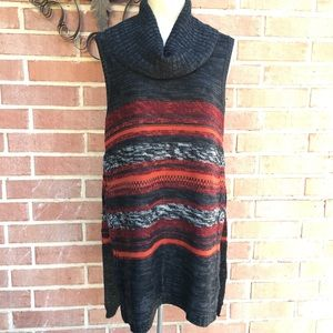New Directions Cowl Neck Sleeveless Tunic Sweater